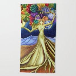 Grace in Full Bloom Beach Towel