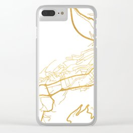 ANDORRA LA VELLA CITY STREET MAP ART Clear iPhone Case