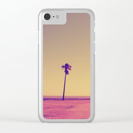 Four Palms In Paradise Clear iPhone Case