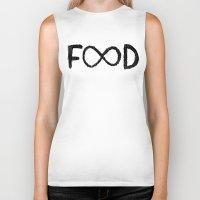 food Biker Tanks featuring FOOD by Sara Eshak