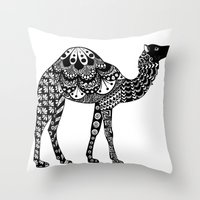 camel Throw Pillows featuring Camel by Sophie H.