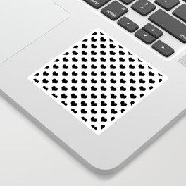 White Black Hearts Minimalist Sticker