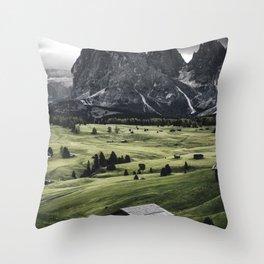 seiser alm landscape Throw Pillow