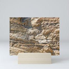 Stunning sedimentary rock texture Mini Art Print