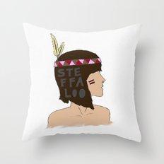 steffaloo Throw Pillow