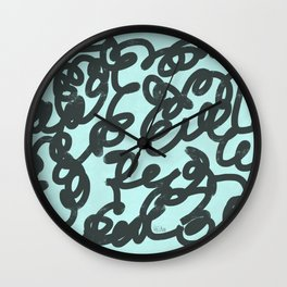 Jumble of Mess Wall Clock