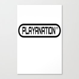 PlayaNation BW 2-Tone Canvas Print