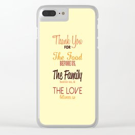 Thanksgiving Grace | Fall Colors Clear iPhone Case