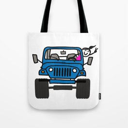 Jeep Wave Girl - Blue Tote Bag