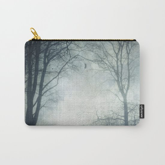 Dark Path - Misty Forest in November Carry-All Pouch
