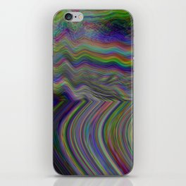 Digital pixel noise and glitch iPhone Skin
