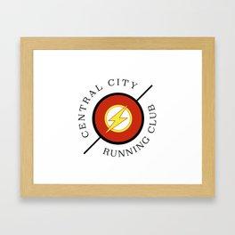 Central City running club Framed Art Print