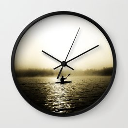Kayaker Wall Clock