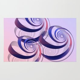connected spirals Rug