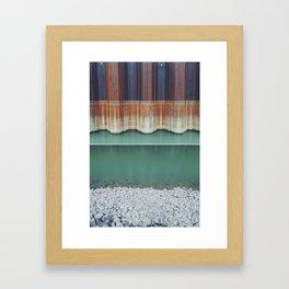 Rust level // turquoise water // rock Framed Art Print