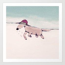Swimming Pooch Art Print