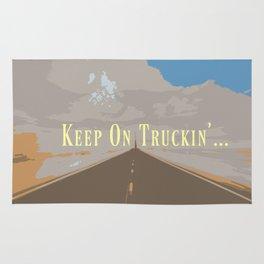 KEEP ON TRUCKIN'... Rug