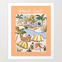 Amalfi Coast Italy (color) Art Print