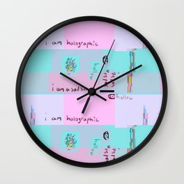 I Am Holographic Wall Clock