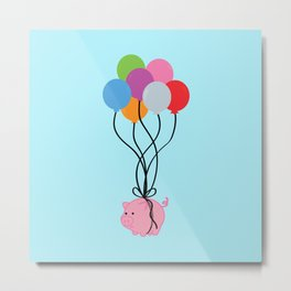Pigs Can Fly Metal Print