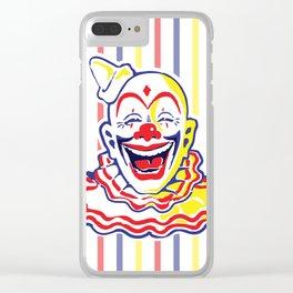 Clown Classic Circus Clown Clear iPhone Case