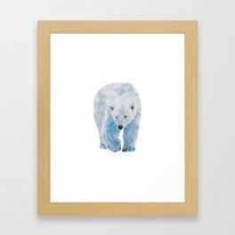 Geometric Polar Bear Framed Art Print
