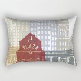 El Paso skyline poster Rectangular Pillow