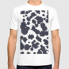 Watercolor dots Mens Fitted Tee White MEDIUM