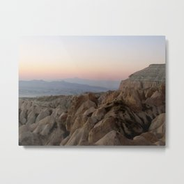 Sunset Over Kapadokya Metal Print