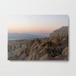 Sunset Over Kapadokya Metal Print