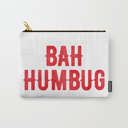 Bah Humbug (red) Carry-All Pouch