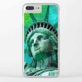 Pop Art Statue of Liberty Clear iPhone Case