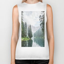 Forest Reflection in Italy Biker Tank