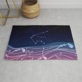 Aquarius Zodiac Constellation Design Rug
