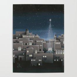 Bethlehem Night Nativity Scene Poster