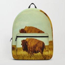 Vintage Bison - Buffalo on the Oklahoma Prairie Backpack