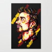 tony stark Canvas Prints featuring Tony Stark by AlysIndigo