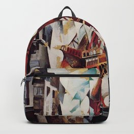 "Robert Delaunay ""Graphic Champs de Mars: The Red Tower"" Backpack"