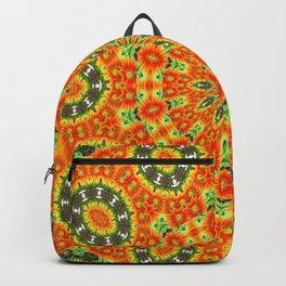 Kaleidoscope of Bold Orange Gazanias  Backpack
