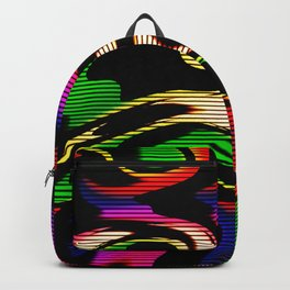 Hot abstraction with lines 1 Backpack