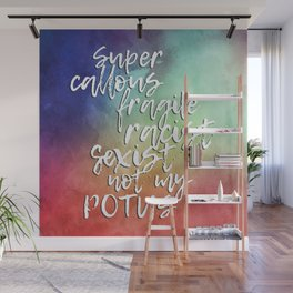 The Bigliest Word You've Ever Heard! Bold Rainbow Wall Mural