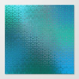 Trinity Pattern (ocean blues) Canvas Print