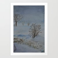Snow Sky Art Print
