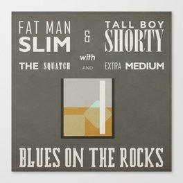 Blues On The Rocks Canvas Print