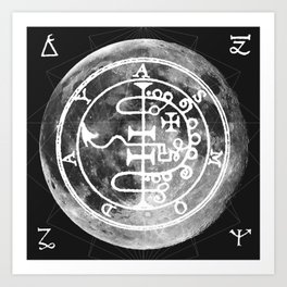 The Witches Moon Art Print