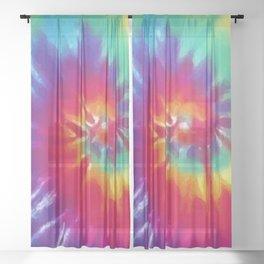 Tie Dye Swirl Pattern Sheer Curtain