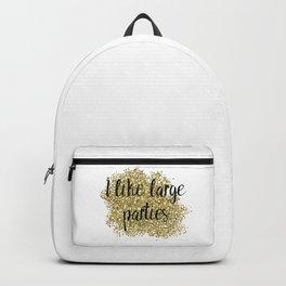 I like large parties - golden jazz Backpack