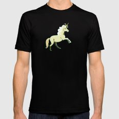Unicorn at a Canter Black Mens Fitted Tee MEDIUM