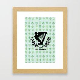 erin go bragh Framed Art Print