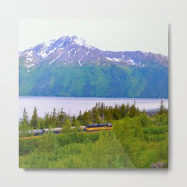 Alaska Passenger Train - Bird Point Metal Print